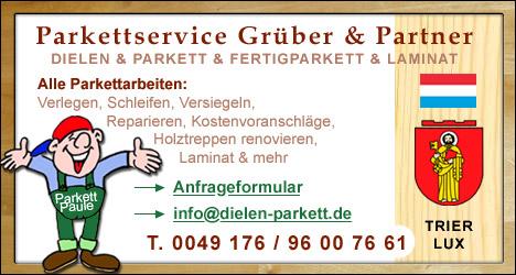 Parkettleger, Bodenleger Luxemburg/Trier